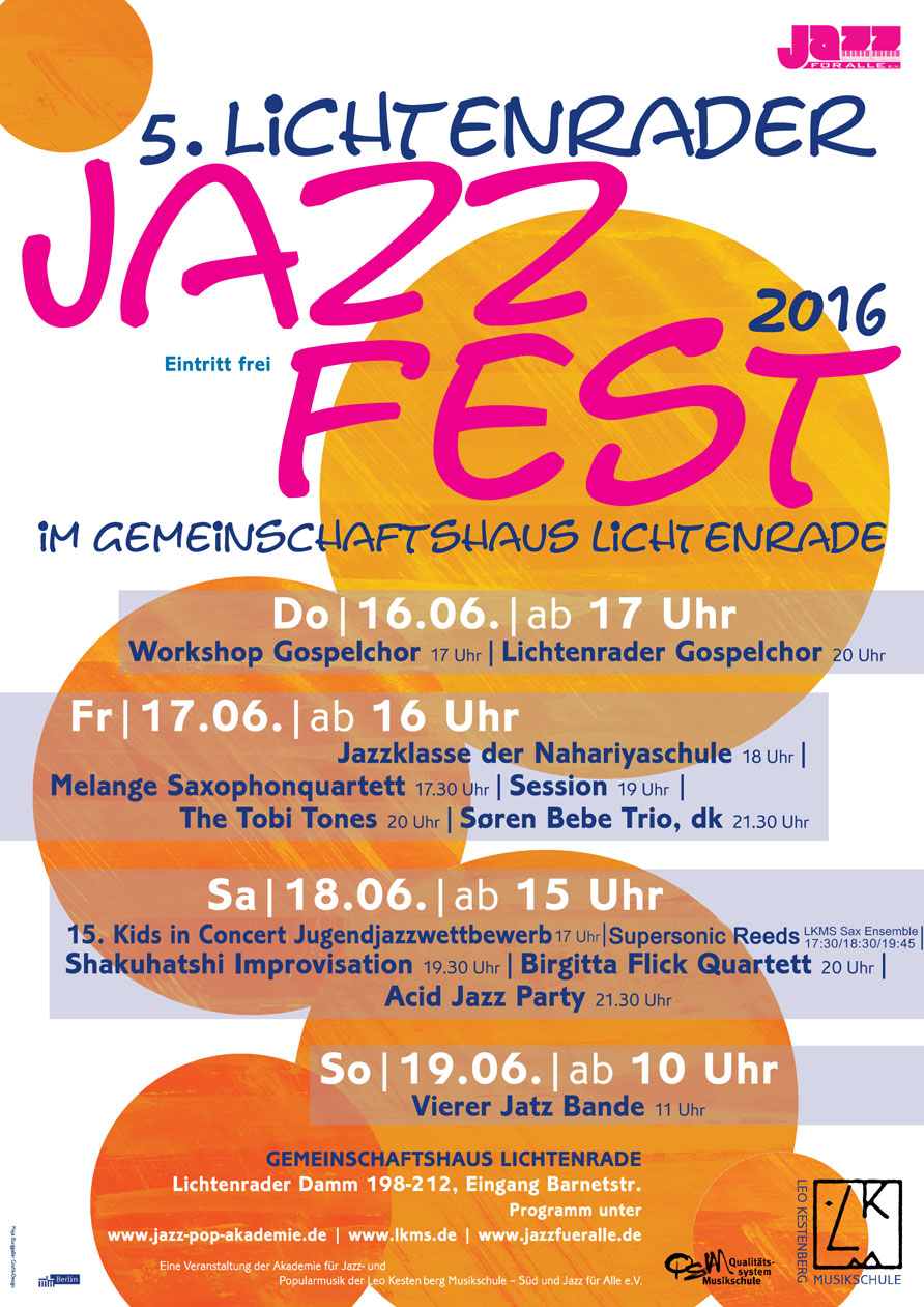 Lichtenrader Jazzfest 2016